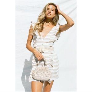 Sabo Skirt Striped Frill Dress NWT